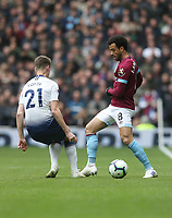 West Ham United's Felipe Anderson and Tottenham Hotspur's Juan Foyth<br /> <br /> Photographer Rob Newell/CameraSport<br /> <br /> The Premier League - Tottenham Hotspur v West Ham United - Saturday 27th April 2019 - White Hart Lane - London<br /> <br /> World Copyright © 2019 CameraSport. All rights reserved. 43 Linden Ave. Countesthorpe. Leicester. England. LE8 5PG - Tel: +44 (0) 116 277 4147 - admin@camerasport.com - www.camerasport.com