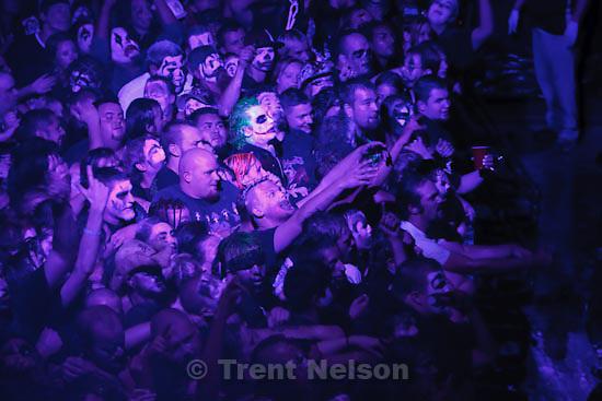 Trent Nelson  |  The Salt Lake Tribune.Insane Clown Posse performs at The Great Salt Air (Saltair) Thursday, October 1 2009 west of Salt Lake City. juggalos and Joker
