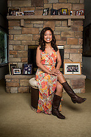 Conservative personality and blogger Michelle Malkin (cq) at her home in Colorado, Springs, Colorado, Wednesday, May 7, 2014. Michelle Malkin, born October 20, 1970, is an American conservative blogger, political commentator, and author and is a Fox News Channel contributor. Malkin has written four books published by Regnery Publishing and founded the conservative websites Twitchy and Hot Air.<br /> <br /> Photo by Matt Nager