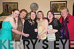 Family Night for the Ladies: Enjoying Womens Christmas in The Arms Hotel, Listowel, on Saturday night were Lisa Quinn, Listowel, Christina Quinn, Foynes, Mary Hanlon, Siobhan Hanlon and Mairead Hanlon, Listowel, and Margaret OBrien, Foynes..