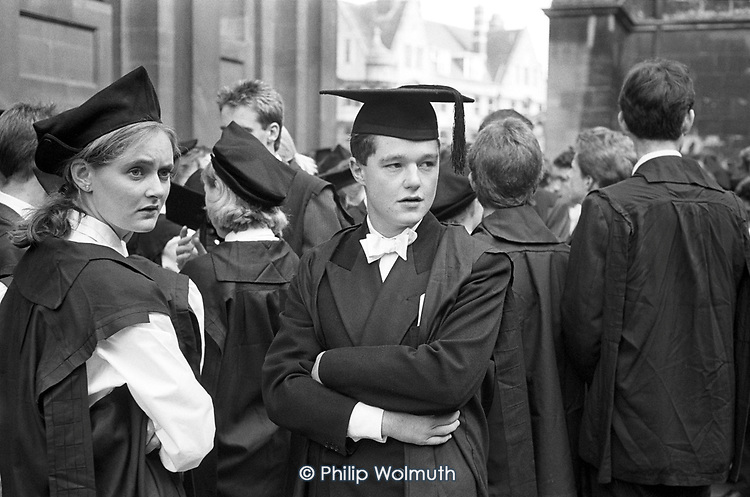 First year undergraduates at Oxford University assemble in gowns and mortar boards for the matriculation ceremony at the Sheldonian Theatre.
