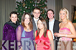 Staff of Kerry group headquarters Princess St Tralee celebrated their annual Christmas party in the Manor west Hotel Tralee last Friday night L-R Sinead Gyhan,Grainne Fitzgerald,Michael Fundowicz,Norah Browne,seamus Scanell and Elaine Guiney..   Copyright Kerry's Eye 2008