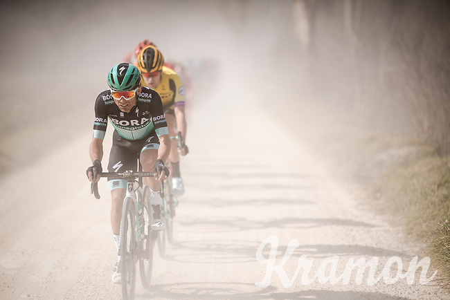Cesare Benedetti (ITA/BORA - hansgrohe) on the white dust roads of Tuscany<br /> <br /> 13th Strade Bianche 2019 (1.UWT)<br /> One day race from Siena to Siena (184km)<br /> <br /> ©kramon