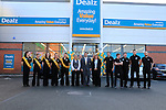 Staff and Management at the opening of the Dealz new store in Lakeland retail Park, Cavan.<br /> <br /> Picture Fran Caffrey /Newsfile