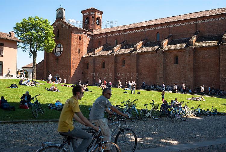 """La Abbazia di Morimondo, paese in provincia di Milano annoverato tra """"i borghi più belli d'Italia"""" --- The Abbey of Morimondo, small village in the province of Milan, rated within the """"most beautiful villages in Italy""""."""