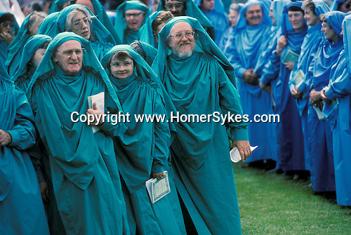 GORSEDD OF BARDS, BARDS OF THE WELSH GORSEDD, BALA, WALES. UK. Most members of the Gorsedd are poets, writers, musicians and artists, who usually join when they win one of the Eisteddfod's main competitio