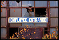 Industrial textures and abstracts - Employee Entrance