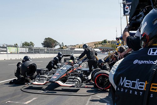 28-30 August, 2015, Sonoma, California USA<br /> Gabby Chaves pit stop<br /> ©2015, Sam Cobb<br /> LAT Photo USA