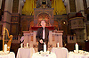 Eve of Holocaust Memorial Day Service at West London Synagogue, London, Great Britain <br /> 26th January 2015 <br /> <br /> Holocaust Memorial candle lit by: <br /> <br /> Peter Tatchell - Speaking Out for Human Rights <br /> <br /> <br /> <br /> <br /> Photograph by Elliott Franks <br /> Image licensed to Elliott Franks Photography Services