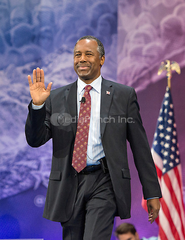 Former neurosurgeon Ben Carson, a former candidate for the Republican Party nomination for President of the United States, arrives to speak at the Conservative Political Action Conference (CPAC) at the Gaylord National Resort and Convention Center in National Harbor, Maryland on Friday, March 4, 2016.<br /> Credit: Ron Sachs / CNP/MediaPunch