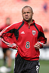 3 April 2004: Earnie Stewart during pregame warmups. DC United defeated the San Jose Earthquakes 2-1 at RFK Stadium in Washington, DC on opening day of the regular season in a Major League Soccer game..