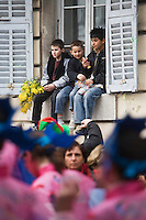Europe/France/06/Alpes-Maritimes/Nice: Défilé du Carnaval de Nice- Spectateurs