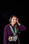 Contestants in the Miss Native American USA Pageant in Tempe, Arizona August 1, 2014.