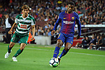 League Santander 2017/2018. Game: 05.<br /> FC Barcelona vs SD Eibar: 6-1.<br /> Unui vs Semedo.