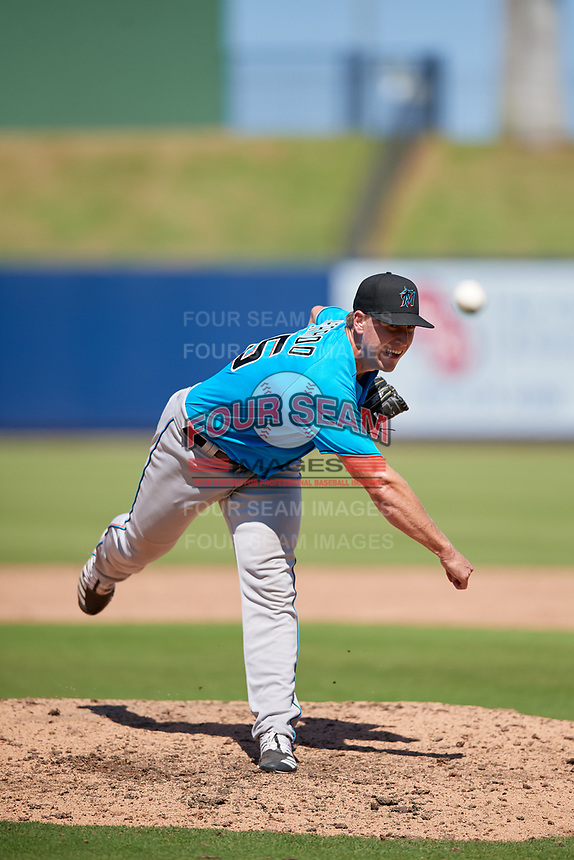 Miami Marlins pitcher Cason Sherrod (85) during an Instructional League game against the Washington Nationals on September 26, 2019 at FITTEAM Ballpark of The Palm Beaches in Palm Beach, Florida.  (Mike Janes/Four Seam Images)