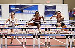 NAPERVILLE, IL - MARCH 11: Jordin Fender of Transylvania University placed 2nd in the 60 meter hurdles at the Division III Men's and Women's Indoor Track and Field Championship held at the Res/Rec Center on the North Central College campus on March 11, 2017 in Naperville, Illinois. (Photo by Steve Woltmann/NCAA Photos via Getty Images)