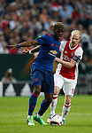 Paul Pogba of Manchester United in action with Davy Klaassen of Ajax during the UEFA Europa League Final match at the Friends Arena, Stockholm. Picture date: May 24th, 2017.Picture credit should read: Matt McNulty/Sportimage