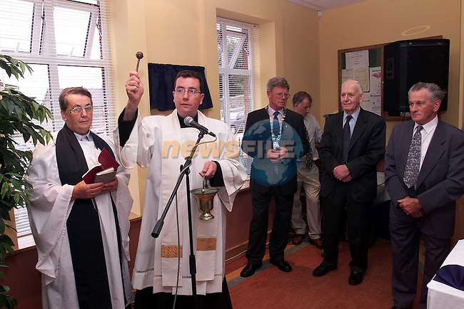 Fr. Martin Carley blessing Slane Credit Union at the official opening on Sunday..Picture Paul Mohan Newsfile.