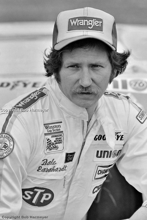 DAYTONA BEACH, FL - FEBRUARY 14: Dale Earnhardt after qualifying for the Daytona 500 on February 14, 1982, at the Daytona International Speedway in Daytona Beach, Florida.