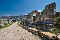 Picture of Tomb North Necropolis  main road . Hierapolis archaeological site near Pamukkale in Turkey.