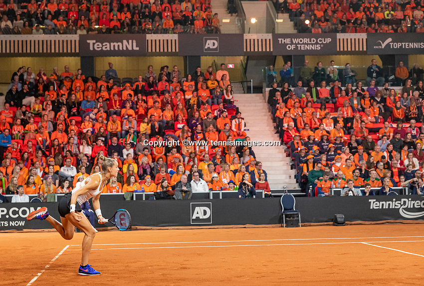 The Hague, The Netherlands, Februari 8, 2020,    Sportcampus, FedCup  Netherlands -  Balarus, Seccond match on Saturday:  Aranxta Rus  (NED)<br /> Photo: Tennisimages/Henk Koster