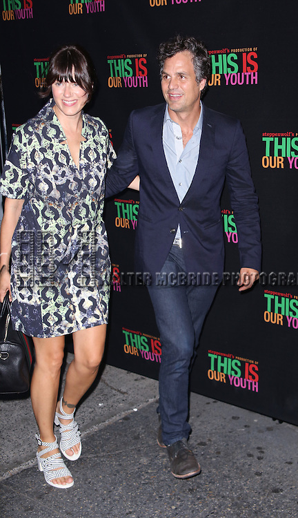 Sunrise Coigney and Mark Ruffalo attends the Broadway Opening Night Performance of 'This Is Our Youth' at the Cort Theatre on September 11, 2014 in New York City.