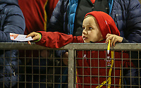 A young Welsh fan waits patiently for an autograph<br /> <br /> Photographer Alex Dodd/CameraSport<br /> <br /> RBS Six Nations U20 Championship Round 4 - Wales U20s v Ireland U20s - Saturday 11th March 2017 - Parc Eirias, Colwyn Bay, North Wales<br /> <br /> World Copyright &copy; 2017 CameraSport. All rights reserved. 43 Linden Ave. Countesthorpe. Leicester. England. LE8 5PG - Tel: +44 (0) 116 277 4147 - admin@camerasport.com - www.camerasport.com