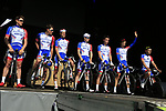 Groupama-FDJ at sign on before the 2019 E3 Harelbeke Binck Bank Classic 2019 running 203.9km from Harelbeke to Harelbeke, Belgium. 29th March 2019.<br /> Picture: Eoin Clarke | Cyclefile<br /> <br /> All photos usage must carry mandatory copyright credit (© Cyclefile | Eoin Clarke)