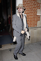 LONDON, ENGLAND - OCTOBER 08 :  Dave Stewart leaves The Hospital Club on October 08, 2018 in London, England.<br /> CAP/AH<br /> ©AH/Capital Pictures