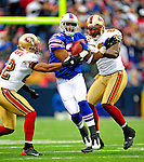 30 November 2008: Buffalo Bills' running back Fred Jackson (22) gains yardage in the first quarter against the San Francisco 49ers at Ralph Wilson Stadium in Orchard Park, NY. The 49ers defeated the Bills 10-3. ***** Editorial Use Only ******..Mandatory Photo Credit: Ed Wolfstein Photo