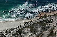 aerial photograph Pacific Ocean, Santa Cruz, California
