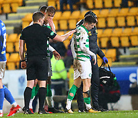 29th January 2020; McDairmid Park, Perth, Perth and Kinross, Scotland; Scottish Premiership Football, St Johnstone versus Celtic; Mikey Johnston of Celtic leaves the field after picking up an injury