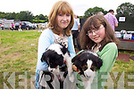 Enjoying the Kilgarvan Show were Gillian and Serena Randles with  'Lexi' and 'Chelsea' .