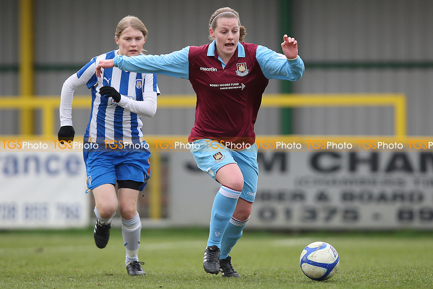 Jess Barling in action for West Ham - West Ham United Ladies vs Colchester United Ladies - FA Women's Cup 4th Round Football at Ship Lane, Thurrock FC - 06/03/11 - MANDATORY CREDIT: Gavin Ellis/TGSPHOTO - Self billing applies where appropriate - Tel: 0845 094 6026