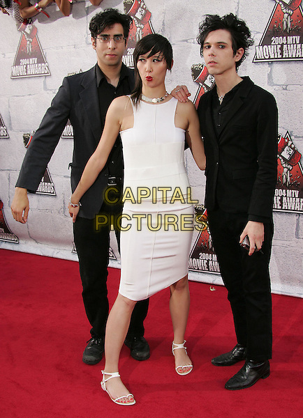 THE YEAH YEAH YEAHS.at the 2004 MTV Movie Awards held at The Sony Picture Studios in Culver City, .California,.June 6th 2004.full length full-length band .*UK sales only*.www.capitalpictures.com.sales@capitalpictures.com.©Capital Pictures