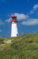 Leuchtturm auf der Insel Sylt, Leuchtturm West, nördlichstes Gebäude Deutschlands, Leuchttürme, Nordsee, Schleswig-Holstein