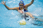 INDIANAPOLIS, IN - MAY 14: Kat Klass (10) of Stanford University in action against Maddie Musselman (7) of UCLA during the Division I Women's Water Polo Championship held at the IU Natatorium-IUPUI Campus on May 14, 2017 in Indianapolis, Indiana. Stanford edges UCLA, 8-7, to win fifth women's water polo title in the past seven years. (Photo by Joe Robbins/NCAA Photos/NCAA Photos via Getty Images)