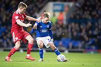 Alan Judge of Ipswich Town attempts to lay the ball forward under pressure during Ipswich Town vs Accrington Stanley, Sky Bet EFL League 1 Football at Portman Road on 11th January 2020