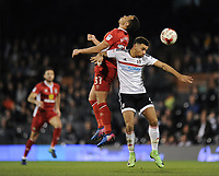 Blackburn Rovers' Elliott Bennett battles for possession with Fulham's Ryan Fredericks<br /> <br /> Photographer /Ashley WesternCameraSport<br /> <br /> The EFL Sky Bet Championship - Fulham v Blackburn Rovers - Tuesday 14th March 2017 - Craven Cottage - London<br /> <br /> World Copyright &copy; 2017 CameraSport. All rights reserved. 43 Linden Ave. Countesthorpe. Leicester. England. LE8 5PG - Tel: +44 (0) 116 277 4147 - admin@camerasport.com - www.camerasport.com