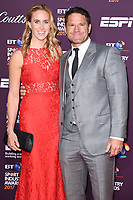 Helen Glover and Steve Backshall<br /> at the BT Sport Industry Awards 2017 at Battersea Evolution, London. <br /> <br /> <br /> ©Ash Knotek  D3259  27/04/2017