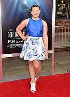 WESTWOOD, CA - APRIL 11: Mackenzie Hancsicsak attends the premiere of 20th Century Fox's 'Breakthrough' at Westwood Regency Theater on April 11, 2019 in Los Angeles, California.<br /> CAP/ROT/TM<br /> ©TM/ROT/Capital Pictures