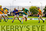 John B.O'Halloran Kilmoyley in action against Shane McElligott Lixnaw Kerry County Senior Hurling championship Final between Kilmoyley and Lixnaw at Austin Stack Park on Sunday.