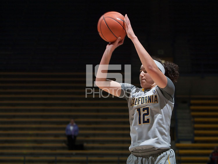 Hind Ben Abdelkader of California shoots the ball during the game against Bakersfield at Haas Pavilion in Berkeley, California on December 15th, 2013.  California defeated Bakersfield Roadrunners, 70-51.