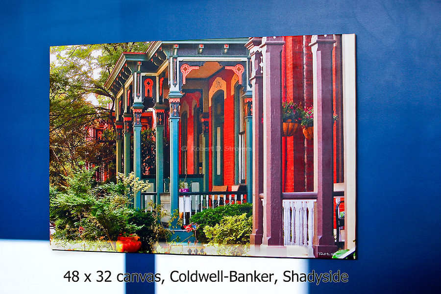 Commercial projects and work sold - Canvas prints, Coldwell-Banker Real Estate office, Penn Circle south, East Liberty/Shadyside