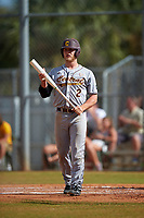 Central Michigan Chippewas designated hitter Adam Collins (2) at bat during a game against the Boston College Eagles on March 8, 2016 at North Charlotte Regional Park in Port Charlotte, Florida.  Boston College defeated Central Michigan 9-3.  (Mike Janes/Four Seam Images)