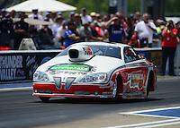 Jun. 16, 2012; Bristol, TN, USA: NHRA pro stock driver Mike Edwards during qualifying for the Thunder Valley Nationals at Bristol Dragway. Mandatory Credit: Mark J. Rebilas-