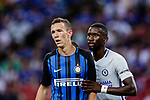 FC Internazionale Forward Ivan Perisic (L) fights for position with Chelsea Defender Antonio Rudiger (R) during the International Champions Cup 2017 match between FC Internazionale and Chelsea FC on July 29, 2017 in Singapore. Photo by Marcio Rodrigo Machado / Power Sport Images