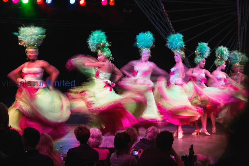 Showgirl dancers in motion, Tropicana Club, Havana, Cuba
