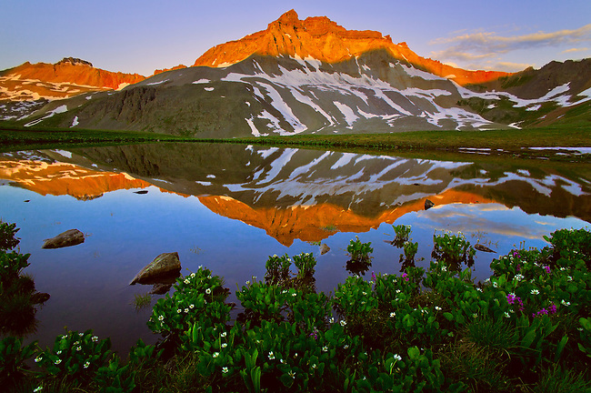 Summer Sunrise Reflection, Yankee Boy Basin