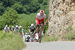 Stephane Rossetto (FRA) Cofidis attacks from the breakaway on the slopes of the final climb Horquette d'Ancizan during Stage 3 of the Route d'Occitanie 2019, running 173km from Arreau to Luchon-Hospice de France, France. 22nd June 2019<br /> Picture: Colin Flockton | Cyclefile<br /> All photos usage must carry mandatory copyright credit (© Cyclefile | Colin Flockton)